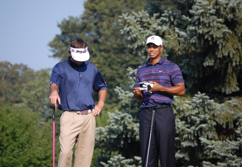 Tiger Woods and Bubba Watson