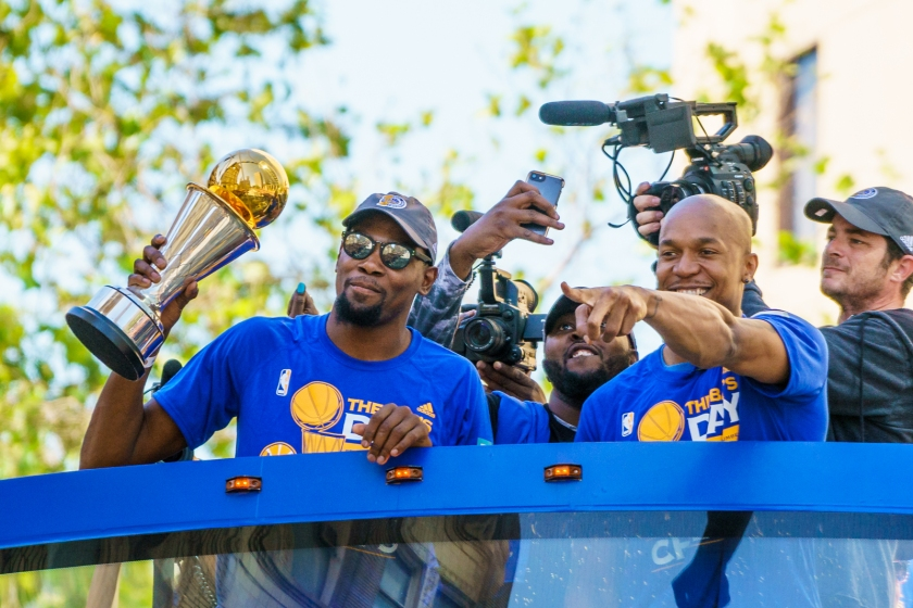 Kevin Durant and David West