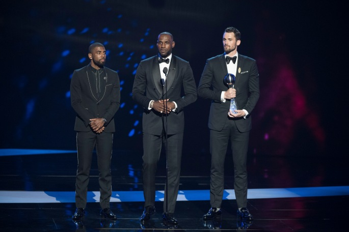 KYRIE IRVING, LEBRON JAMES, KEVIN LOVE